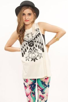 Love everything but the hat College Outfits, New Outfits, Fashion Outfits, Womens Fashion, Muscle Tanks, Just The Way, Spring Summer Fashion, Eagle, Dress Up