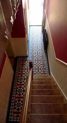 classic matt porcelain mosaic tile path internal hallway balham clapham putney battersea wandsworth london London Garden, Rest Of The World, Entrance, Mosaic, Stairs, Victorian, Classic, Tile, Porcelain