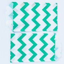 Teal Chevron Bags ONLY $2.75 for 24!!