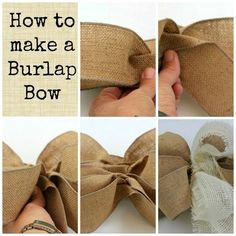 Making a Burlap Bow. How to make a bow with burlap.