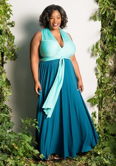 plus-size-fashion eternityconvertibleduomaxidress_blue