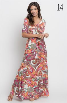 City Sleek Wrap Maxi Dress- New Prints {Jane Deals}