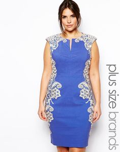 Paper Dolls Plus Pencil Dress With Lace Panels http://picvpic.com/women-dresses-cocktail-party-dresses/paper-dolls-plus-pencil-dress-with-lace-panels