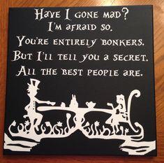 12X12 Alice In Wonderland Canvas by BlastThisDesigns on Etsy