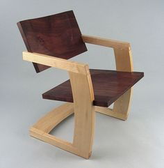 Contemporary wood cantilever chair - PALO ALTO - J Rusten Furniture Studio - Videos