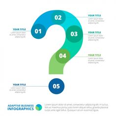 question mark Infographic template design Free Vector