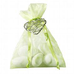"wedding favour in green with silver heart - Gastgeschenk ""Harmonia"" hellgrün - @weddix for 1,99€"