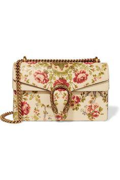 d1f03933c609 Gucci for NET-A-PORTER - Dionysus medium floral-print leather shoulder bag