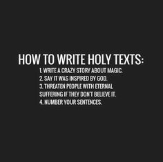 Funny How To Write Holy Texts