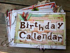 Birthday Calendar with Cards