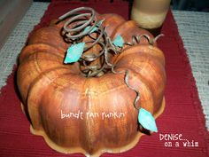 bundt pan pumpkin ... such a great repurpose