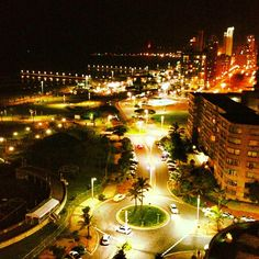 kate_els - Durban by night. West Africa, South Africa, Victoria Falls, St Helena, Slums, Landscape Lighting, City Lights, Nightlife, East Coast