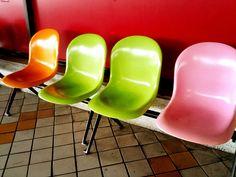 chairs at Yamagata bus station