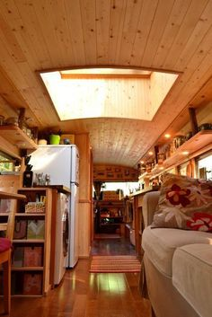 One of the best things about converting a school bus into a home is the…