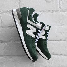 New Balance '576'  Pine Green / White