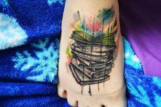 tatuagens femininas aquarela livos - Pesquisa Google