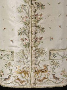 1790s-1800, France - Silk waistcoat