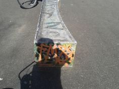 graffiti op een skate baan (fantasie, bovenkast, verlengd)