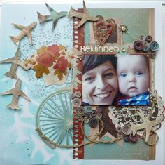 Layout created by Rianne for the #Glitz & once upon a sketch challenge of May
