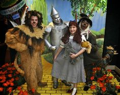 Guests met the Dorothy, the Scarecrow, Tin Man and Lion on the yellow brick road.