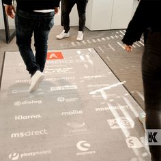 Are we facing a new age of virtual trade shows? or will we soon be able to network face to face again? Either way the main goal is to clearly deliver information to potential clients and buyers. The floor space is a great way to do this, using custom printed mats. #KleenTexEurope #floorgraphics #tradeshows #redcarpet #personallised #floormat #MakeMoreofYourFloor