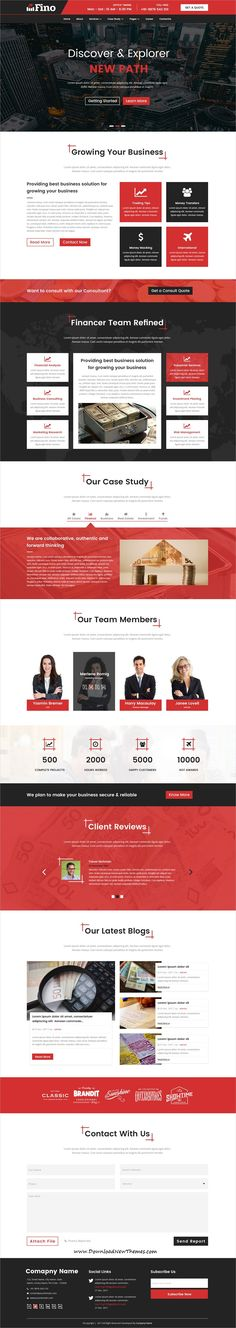 Fino is clean and modern design #PSDtemplate for business #consulting and #finance website with 13 layered PSD files to download & live preview click on image or Visit #webdev
