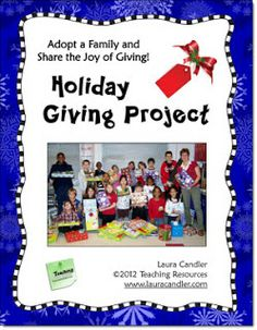 Share the Joy of Giving! Visit this page to learn how you can involve your class in a project to share the joy of giving. Download this freebie for the details.
