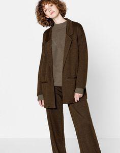 Blazer jacket - Military green - Trends - Woman - PULL&BEAR United Kingdom
