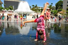 Enjoy some water fun at Grand Park LA!