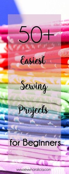 50+ Easy Sewing Patterns and Tutorials: This is the best collection of easy sewing patterns for beginners and sewing newbies. Click through for a full list of beginner sewing tutorials. | www.sewwhatalicia.com