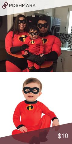 JUST INBaby Jack-Jack costume EUC, only worn once.   Baby Jack-Jack costume from the Incredibles.  Only jumpsuit is included.   Size: 6-12 months Party City Costumes Halloween