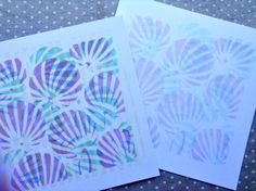 Gelli prints with distress inks and stencils. Inspired by Clarity Stamps Blog.