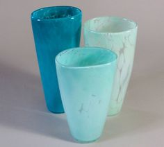 beautiful glass vases from etsy's davidjacobsonglass. $45