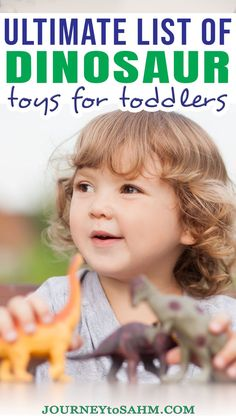 Toddlers tend to be drawn toward dinosaurs. It might be the idea of something they've never seen before, playing pretend, or something else. Either way, I've put together a list of must-have dinosaur toys for toddlers you can't pass up. These are the best of the best dinosaur toys for 2-year-olds up to 4-year-olds so young toddlers and preschoolers can enjoy.| @journeytoSAHM #bestdinosaurtoys #dinosaurtoys #toysfortoddlers #besttoysfortoddlers #dinosaurtoy #toysfortoddlers Dinosaur Toys For Toddlers, The Good Dinosaur Toys, Toddler Preschool, Toddler Activities, Best Toddler Toys, Toddler Sleep, Toddler Gifts, Gifts For Kids, Abc Dance