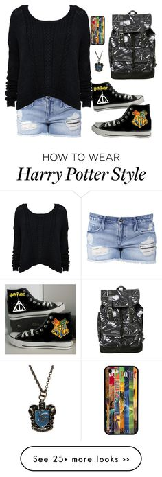 """Untitled 470"" by leo-s-fire on Polyvore featuring Black Orchid and Converse"