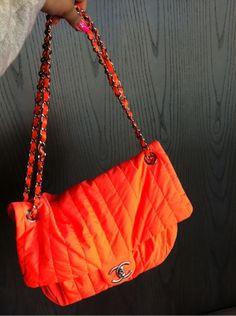 chanel neon bag - OBSESSSSSSED.