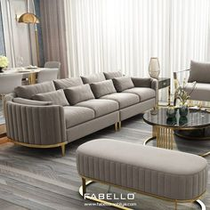 Corner Sofa Design, Living Room Sofa Design, Home Room Design, Living Room Designs, Sofa Furniture, Luxury Furniture, Furniture Design, Living Room Decor On A Budget, Elegant Living Room