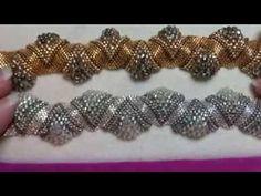 Flower bracelet from beads and crystals. Цветочный браслет из бисера и кристаллов: видео урок - YouTube