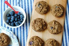 Clean Blueberry Protein Muffins