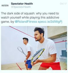 Photo of the day Check out my latest blog post for  Spectator Health. The dark side of squash: why you need to watch yourself while playing this addictive game Roland Feizo  #tbt #fitspo #workout  #gym #train #training #photooftheday #health #love#instahealth #healthychoices #active #strong #motivation #instagood #determination #lifestyle  #getfit #sports #heart #exercise #quote #tbt  #Success  #beautiful #happy #picoftheday #instadaily #exercise #fitness