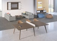 For meeting spaces, Tessera offers worksurface height tables and benches that accommodate a variety of collaboration needs. Occasional tables are available in an assortment of shapes, sizes, and heights that can be used in a myriad of environments. Contract Furniture, Office Furniture, Conference Table, Learning Spaces, Ping Pong Table, Beautiful Space, Benches, Dining Table, Interior