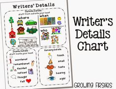 Writer's Details Anchor Chart - great for Personal Narrative Writing!