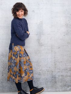 Ravelry: Mapala Sweater pattern by rosa p. Mohair Cardigan, Diy Wardrobe, Floral Print Skirt, Types Of Dresses, Fall Dresses, Long Sleeve Sweater, What To Wear, Winter Fashion, Style Inspiration