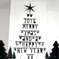 Letterslinger zwart Office Christmas, Christmas Mood, Little Christmas, Handmade Christmas Crafts, Banner, Xmax, Nouvel An, Holidays And Events, Merry Christmas