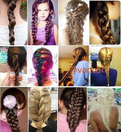 Different styles of braids