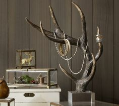 faux antler and lucite jewelry tree {Pottery Barn}