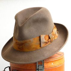 12134cf5621 Mens Felt Fedora Hat Brown Felt Hat Mad Men The by KatarinaHats Fedora Hat  Women