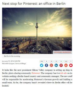 Next stop for Pinterest: an office in Berlin