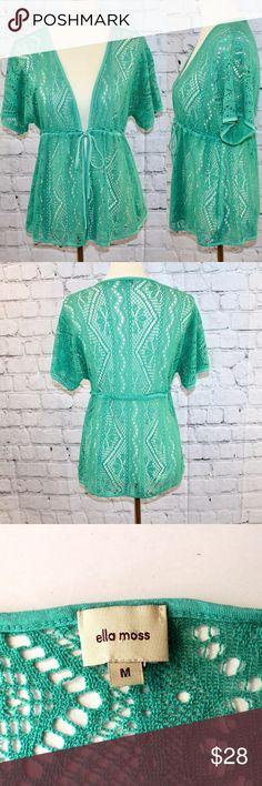 Ella Moss sea green lace cardigan Excellent condition Ella Moss Sweaters Cardigans