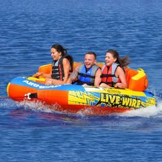 Live Wire 3 | Get out #boating this summer with the Live Wire 3! You're sure to have some great laughs and memories with family and friends out on the lake.   Find out what it has to offer: http://www.airhead.com/new/live-wire-3.html